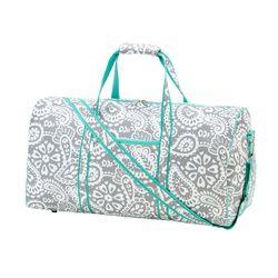 Personalized Parker Paisley Duffel Bag