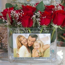 Personalized Holiday Photo Vase