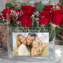 Personalized Holiday Photo Vase