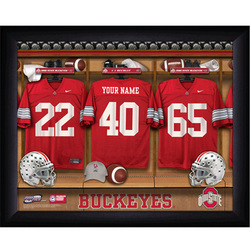Personalized College Football Locker Room Sign