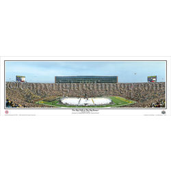 The Big Chill at the Big House ® 2010 Panoramic Framed Print