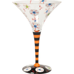 Blood Shot Martini Glass