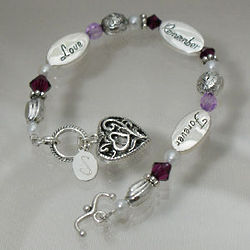 Personalized Love Remembers Forever Sympathy Bracelet