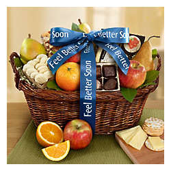 Vintage Get Well Fruit Gift Basket