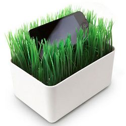 Faux Grass Mini Smart Phone Charging Station
