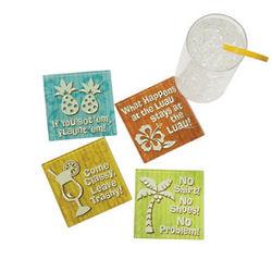 Humorous Tropical Coasters