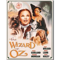 Wizard of Oz Movie Characters Tin Sign