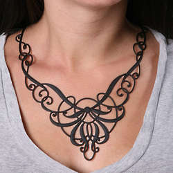 Nouveau Swirls Flexible Body Art Necklace