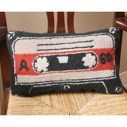 Cassette Tape Retro Wool Pillow