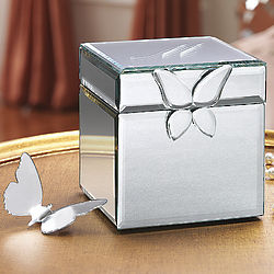 Personalized Butterfly Mirrored Box