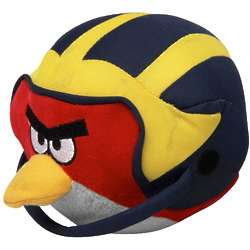 Michigan Wolverines Angry Birds Cardinal in Helmet Plush