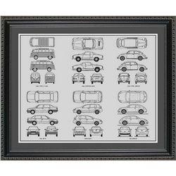 Volkswagen Blueprint Collection Art Print