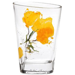 Marigolds Glass Vase