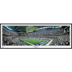 Inaugural Game at Dallas Cowboys Stadium Panoramic Framed Print