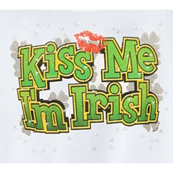 Kiss Me I'm Irish Shirt with Rhinestones
