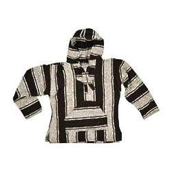 Kid's Black Stripe Baja Hoodie