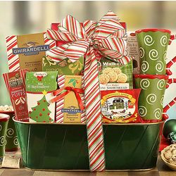 Ghirardelli Cocoa, Tea and Sweets Gift Basket