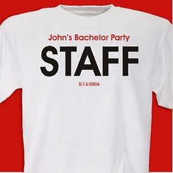 Personalized Bachelor Staff T-Shirt