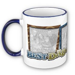 Best Dad in the World Custom Photo Mug