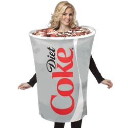 Adult Diet Coca Cola Cup Costume