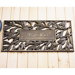 Personalized Recycled Aluminum Pine Cone Doormat