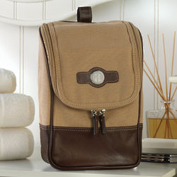 Personalized Leather and Canvas Travel Kit