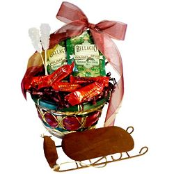 White Christmas Warm Up Basket