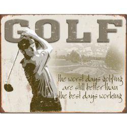 Golf Best Days Vintage Tin Sign