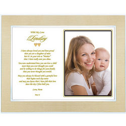 Personalized To My Daughter a Mother's Day Poem Frame