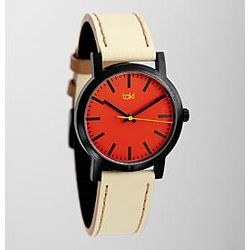 Red Taki Nicollet Watch with Cream Band