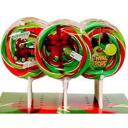 Happy Holidays Candy Cane Flavored Twirl Pops