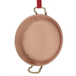 Copper Paella Pan Ornament