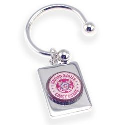 Engraved Coast Guard Rectangular Key Chain