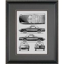 Alfa Romeo Blueprint Art Print