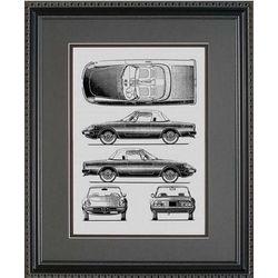 Alfa Romeo Blueprint Art Print