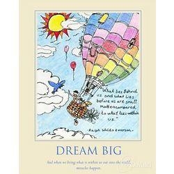 Dream Big 2 Hot Air Balloon Art Print