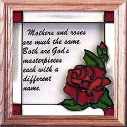 Mothers and Roses Stained Glass Window