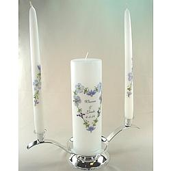 Blue Bouquet Unity Pillar Candle