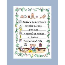 Personalized Birth Announcement Cartoon