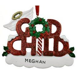 Personalized Godchild Christmas Ornament - FindGift.com
