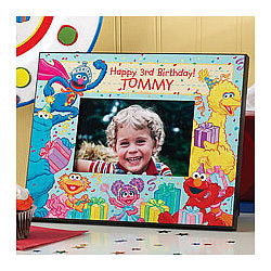 Personalized Sesame Street Birthday Frame