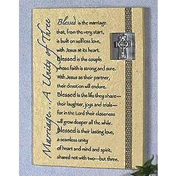 Irish Wedding Plaque with Charm