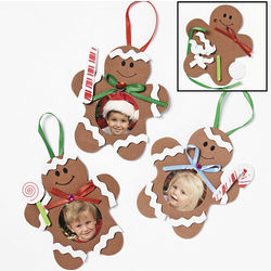 Gingerbread Man Photo Frame Ornament Craft Kit