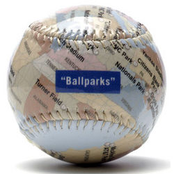 Ballparks of America Map Baseball