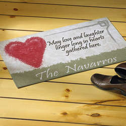 Hearts Gather Here Doormat