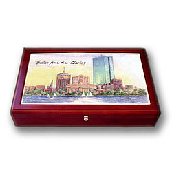 Large Boston Colorprint Desk Box