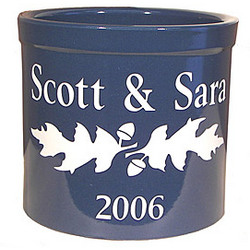 Personalized Oak Leaf Crock