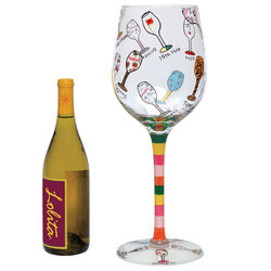 Giant Hand Painted Multi Bottle Wine Glass
