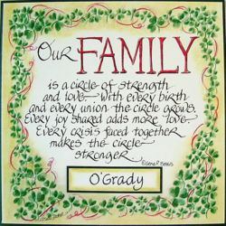 "Personalized ""Our Family"" Wall Plaque"