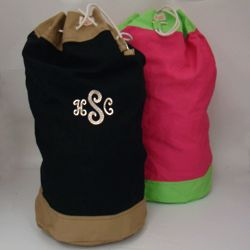Monogrammed Sling Large Laundry Bag